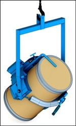 Below-Hook Drum Lifters to Lift & Pour within Reach, forklift drum handling equipment, forklift drum lift, forklift drum lifter, forklift drum lifters, materials lifting equipment, morse barrel lifter, morse drum lift, morse drum lifter, morse forklift