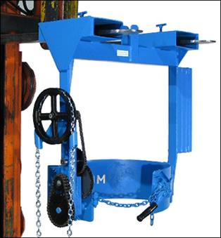 drum handling equipment forklift attachment