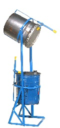 Morse Double 5 Gallon Can Tipper, 5 gallon can tipper,  manual pail tipper,  5 gallon can tilt pouring holder,  5 gallon bucket tilter,  5 gallon bucket tipper,  5 gallon pail handler,  morse pail pro,  pail handling equipment,