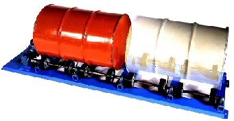 Double Drum Rollers, 55 gallon drum mixers