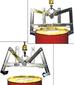 Stainless Steel Drum Lifter Model 92-SS, stainless steel drum lift, stainless steel barrel lifter