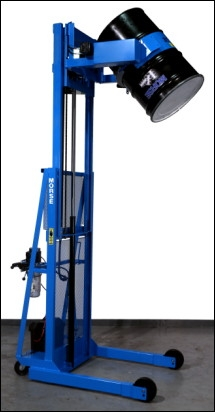 Vertical-Lift Drum Pourer - Scale Equipped, vertical drum lifter, 55 gallon drum lifting equipment, 55 gallon drum lifter, drum lifter, drum lift, morse drum lifter, 55 gallon drum lift, plastic drum lifter, fiber drum lifter, 55 gal drum lifter