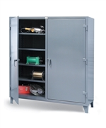 Strong Hold Double Shift Cabinet Industrial Metal Storage Cabinets, industrial storage shelf, industrial storage shelving, industrial storage cabinets with doors, industrial metal storage cabinet, steel storage shelves, strong hold storage cabinets,