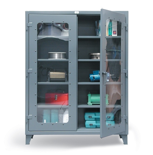 Strong Hold See Through Door Industrial Metal Storage Cabinet, Metal  Storage Cabinets, Industrial
